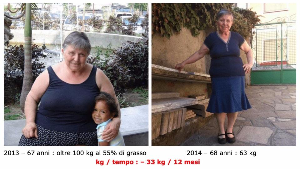 Lucrezia perdere 33 kg